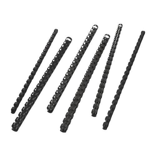 Plastikbinderücken Ø 6 mm schwarz, GBC