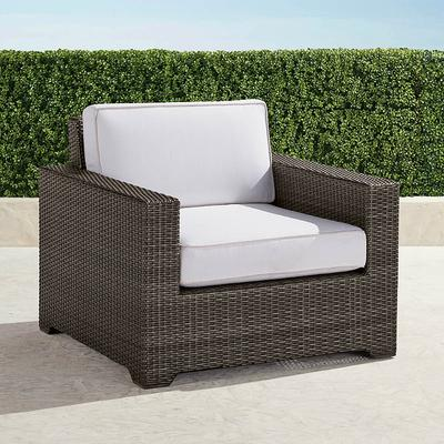 Palermo Lounge Chair with Cushions in Bronze Finish - Rain Dove , Custom Sunbrella Rain, Quick-Ship - Frontgate