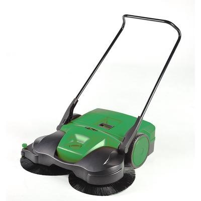 """Bissell BG-697 38"""" Battery-Powered Deluxe Sweeper w/ (3) Brushes, Green"""