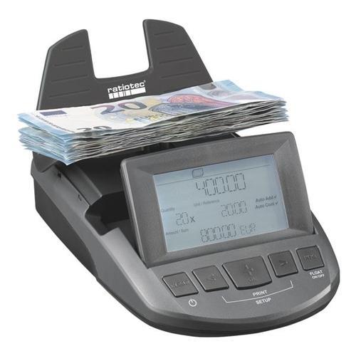 Geldwaage »RS 1000« grau, ratiotec, 13x5x19 cm
