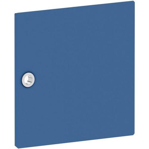 Tür für Regal »System 4« schmal blau, viasit, 37.5x37.5x1.5 cm