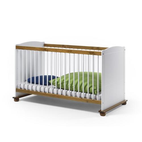 Kinderbett 70x140 Bett Kiefer massiv weiss Fiore
