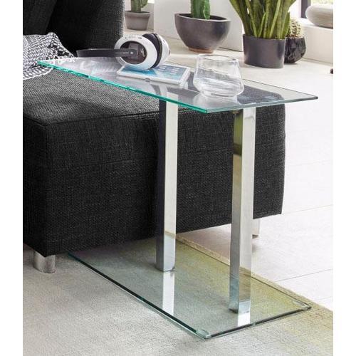 HAKU Beistelltisch, in moderner Glasoptik grau Beistelltische Tische Beistelltisch