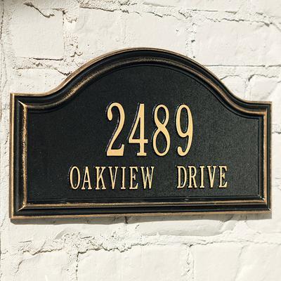 Oakview Estate Address Plaque - Black, Wall - Frontgate