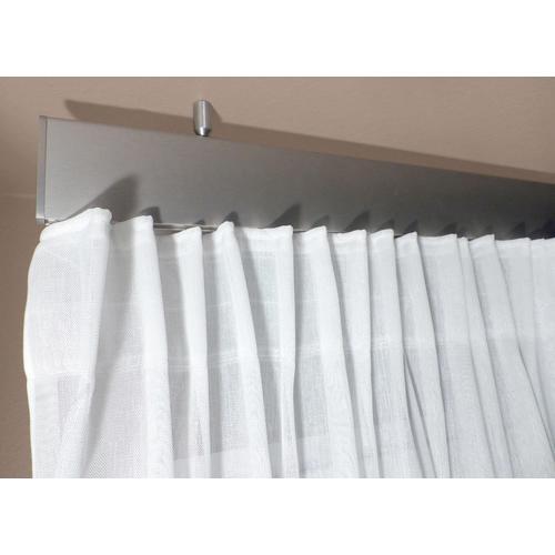 indeko Innenlaufschiene Ovum2, 1 läufig-läufig, Wunschmaßlänge silberfarben Gardinenschienen Gardinen Vorhänge