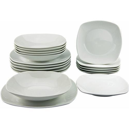 CreaTable Tafelservice Square, (18 tlg.) weiß Geschirr-Sets Geschirr, Porzellan Tischaccessoires Haushaltswaren