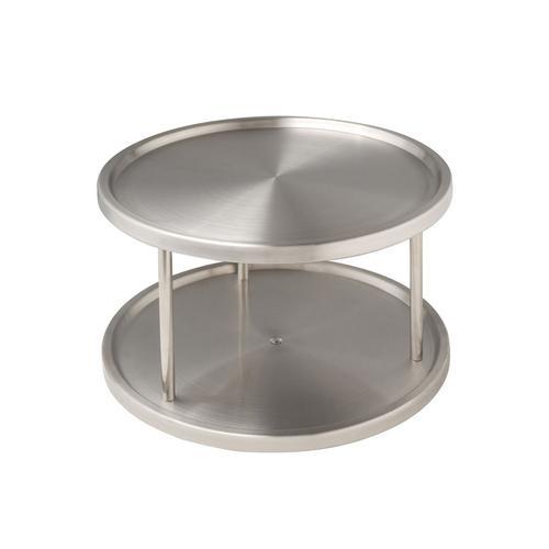 WENKO Küchenkarussell, Schrankrondell silberfarben Küchen-Ordnungshelfer Küchenhelfer Küche Küchenkarussell