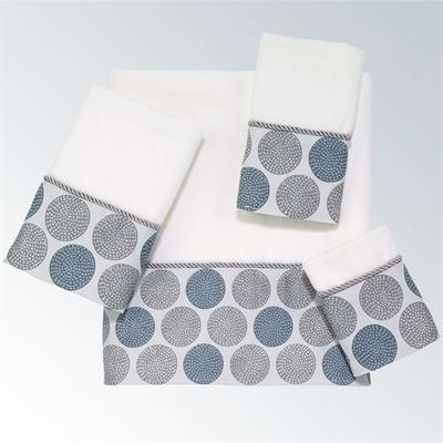 Dotted Circles Bath Towel Set Off White Bath Hand Fingertip, Bath Hand Fingertip, Off White