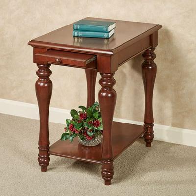 Anna Chairside Table Regal Walnut , Regal Walnut