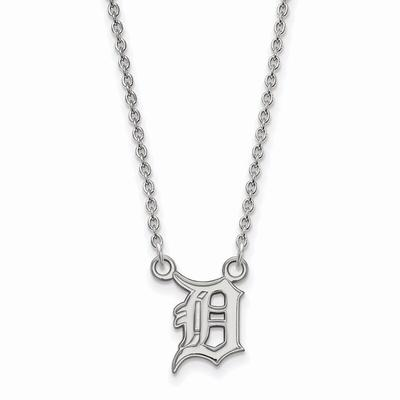 Detroit Tigers Women's Small Sterling Silver Pendant Necklace