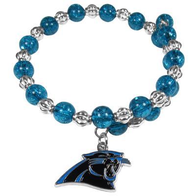 Women's Carolina Panthers 400 Degrees Beaded Bracelet