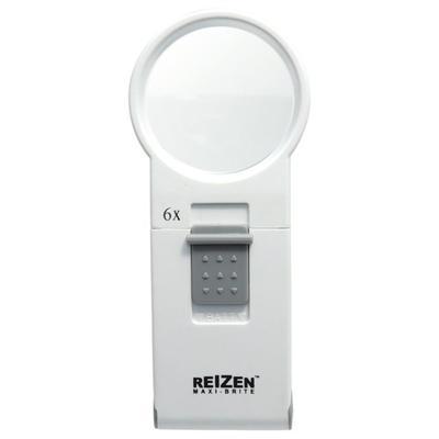 """""""Reizen Magnifiers Maxi-Brite LED Handheld Magnifier Loupe - 6X White Model: 6976"""""""