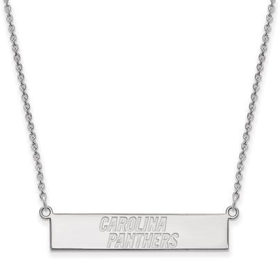 Carolina Panthers Sterling Silver Bar Necklace