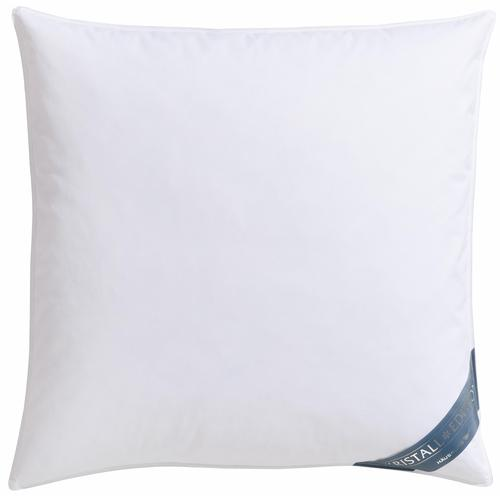 Haeussling Federkopfkissen Kristall Edition, Füllung: 85% Federn, 15% Daunen, Bezug: 100% Baumwolle, (1 St.) weiß Allergiker Kopfkissen Bettdecken, Unterbetten