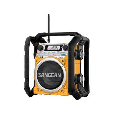 """Sangean AM/FM/WX/Bluetooth Aux-in Rugged Rechargable Digital Tuning Radio Yellow Medium"""