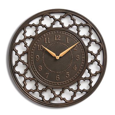 Quatrefoil Clock - Rubbed Bronze - Frontgate
