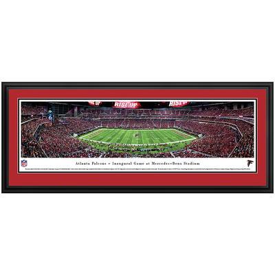"Atlanta Falcons 44"" x 18"" 50-Yard Line Deluxe Framed Panoramic"