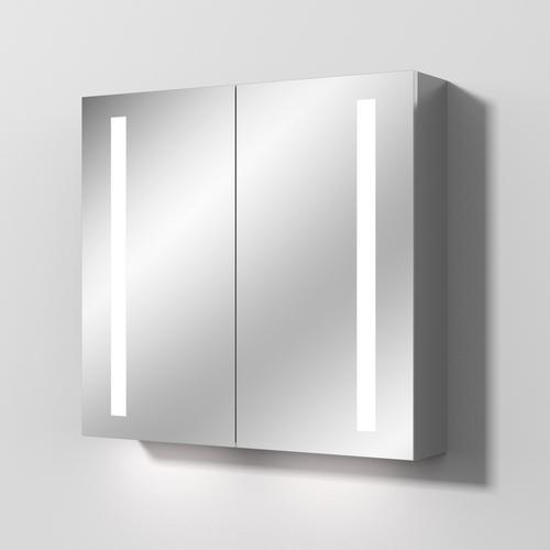 Sanipa Reflection Aluminium-Spiegelschrank ALEX 80 mit LED-Beleuchtung, AU3126L AU3126L