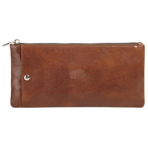 Piké Brieftasche, besonders schlankes Design braun Taschen Brieftasche Unisex