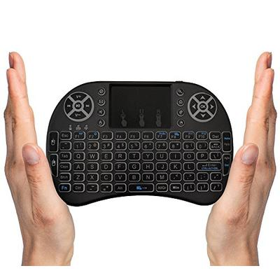 FMKRFL1-US19 2.4GHz USB Wireless Mini Keyboard with Touchpad Mouse Combo for Google Android TV Box Laptop OEM US Version Backlit PC xBox One PS4