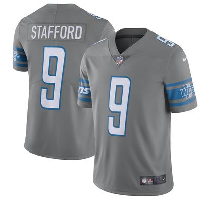 Men's Nike Matthew Stafford Steel Detroit Lions Vapor Untouchable Color Rush Limited Player Jersey