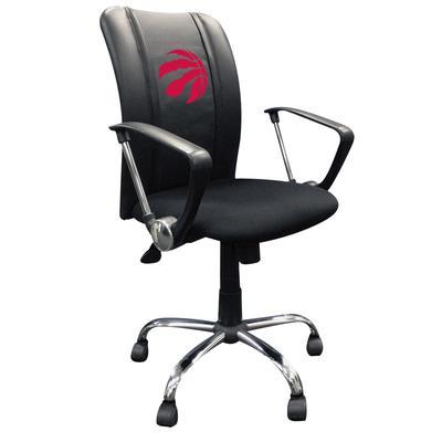 """DreamSeat Toronto Raptors Red Logo Curve Office Chair"""