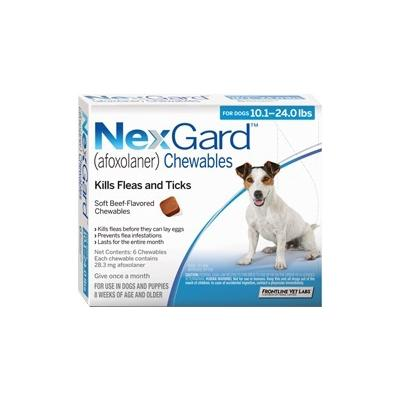 Nexgard For Medium Dogs 10.1-24 Lbs (Blue) 28mg 6 Chews