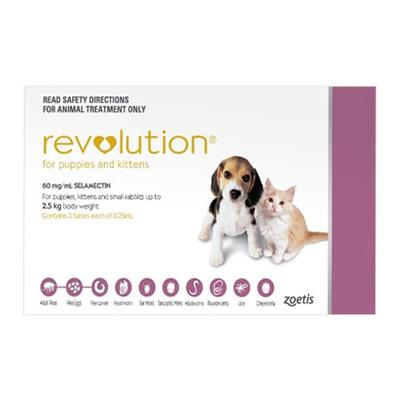 Revolution Kittens / Puppies (Pink) 6 Doses