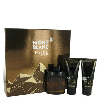 Montblanc Legend Night For Men By Mont Blanc Gift Set - 3.3 Oz Eau De Parfum Spray + 3.3 Oz After Sh