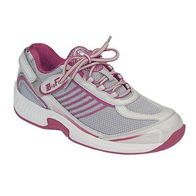 Doctor Recommended Heel Pain Relief Sneakers, Cushioning Sole, Women's Sneakers | OrthoFeet Comfortable Shoes, Verve, 9.5 / Extra Wide / Fuchsia
