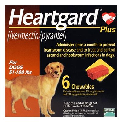 Heartgard Plus For Large Dog 23 To 45 Kg (Brown) 12 Chews