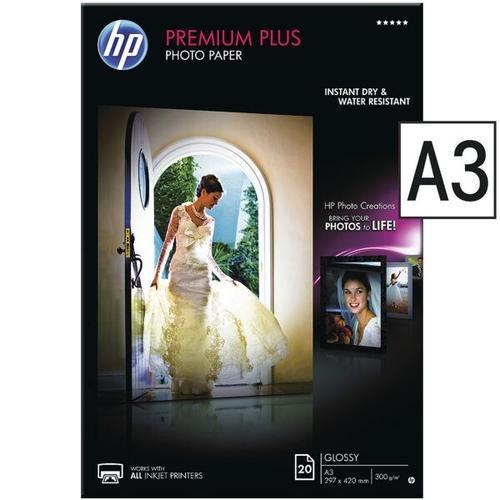 Fotopapier »HP premium plus« A3 20 Blatt weiß, HP