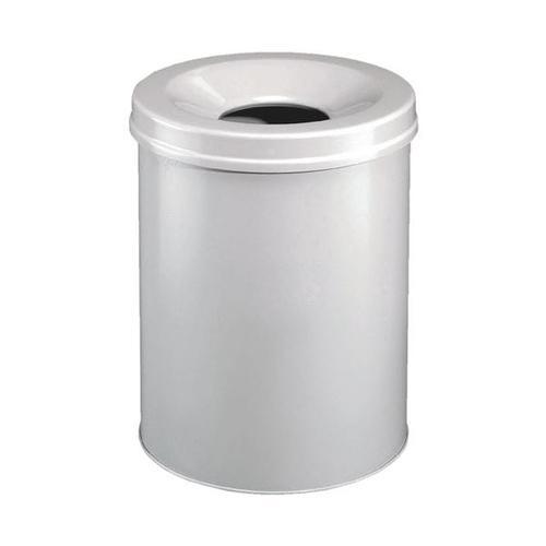Stahl-Papierkorb 30 L grau, Durable, 31.5x49.2 cm