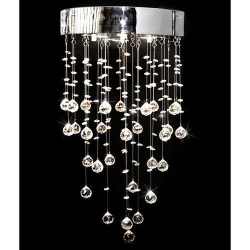 vidaXL Kronleuchter mit 180 Kristallen