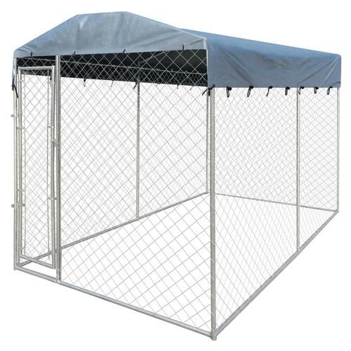 vidaXL Outdoor-Hundezwinger mit Überdachung 4x2x2,4 m