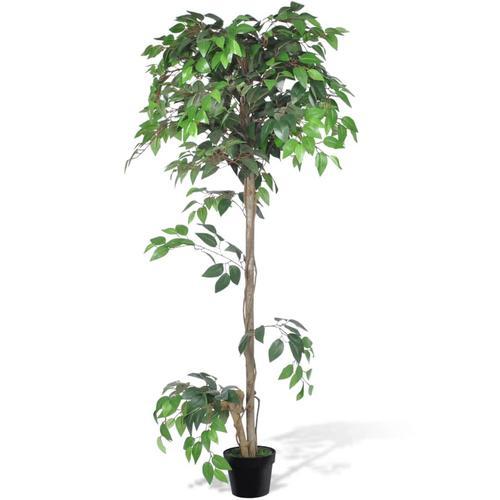 vidaXL Künstlicher Ficus mit Topf 160 cm