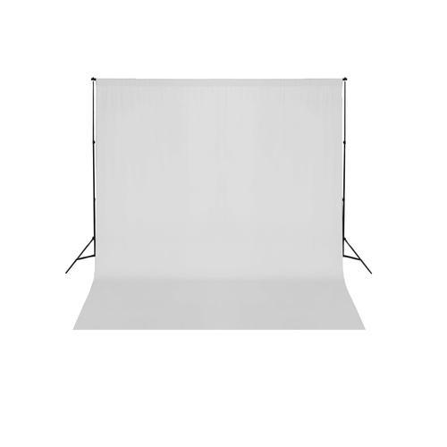 vidaXL Fotohintergrund-System 600 x 300 cm Weiß