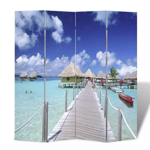 vidaXL Raumteiler klappbar 160 x 170 cm Strand