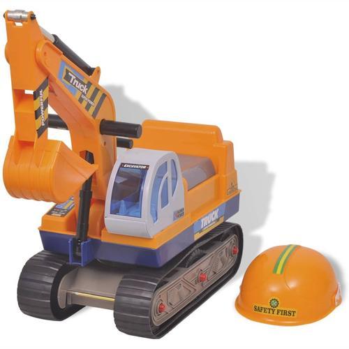 vidaXL Kinderbagger Kunststoff Gelb