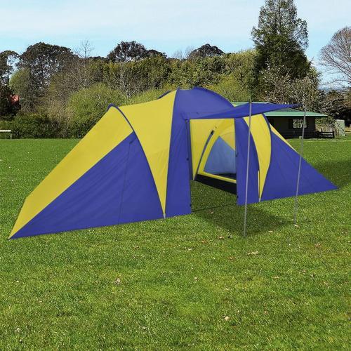 vidaXL Familienzelt Kuppelzelt Campingzelt 6 Personen Gelb