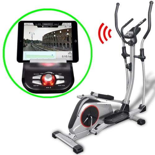vidaXL Programmierbarer Crosstrainer XL Drehmasse 18 kg Smart App