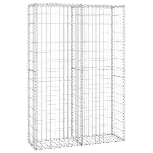 vidaXL Steinkorb Gabione mit Deckeln Verzinkter Draht 150×100×30 cm