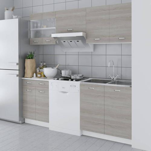 vidaXL Küchenzeile 5-tlg. Eichen-Look 200 cm