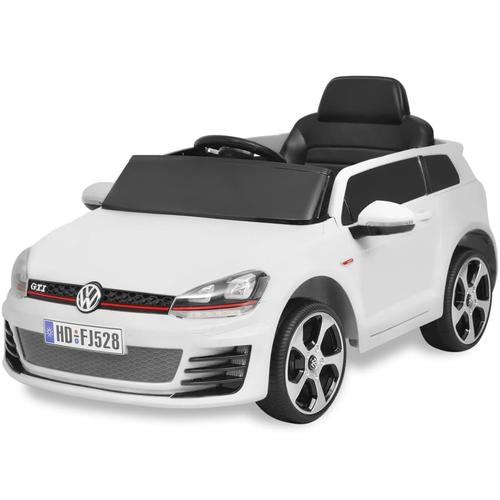 vidaXL Kinderauto Elektroauto VW Golf GTI 7 weiß 12 V mit Fernbedienung