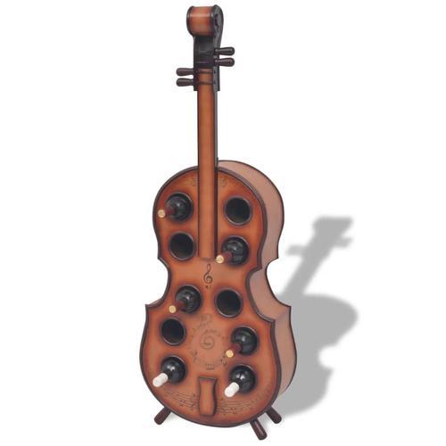 vidaXL Weinregal Geigenform für 10 Flaschen Braun