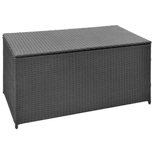 vidaXL Garten-Aufbewahrungsbox Schwarz 120x50x60 cm Poly Rattan