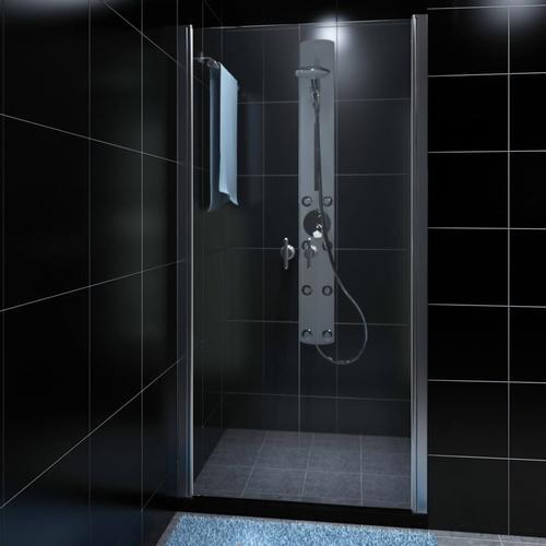 vidaXL Duschabtrennung Duschtür Glas 80cm