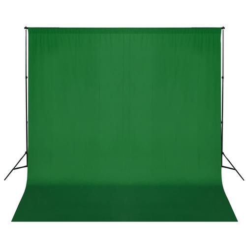 vidaXL Fotohintergrund-System 600 x 300 cm Grün