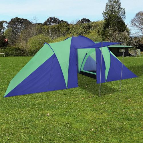 vidaXL Familienzelt Kuppelzelt Campingzelt 6 Personen Grün