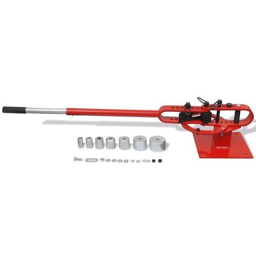 vidaXL Stahlrohrbiegemaschine Werkbank-Montage handbetrieben